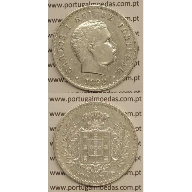 500 REIS PRATA 1892 (MBC+) D. CARLOS I