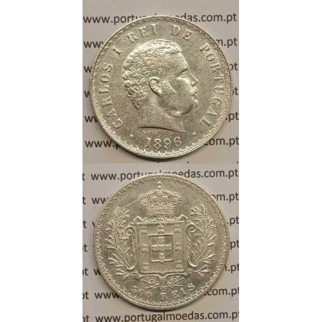 500 REIS PRATA 1896 (MBC+/BELA-) D. CARLOS I