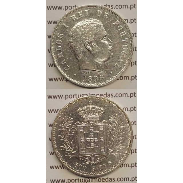 500 REIS PRATA 1896 (MBC) D. CARLOS I
