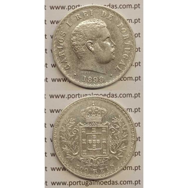 500 REIS PRATA 1898 (MBC) D. CARLOS I