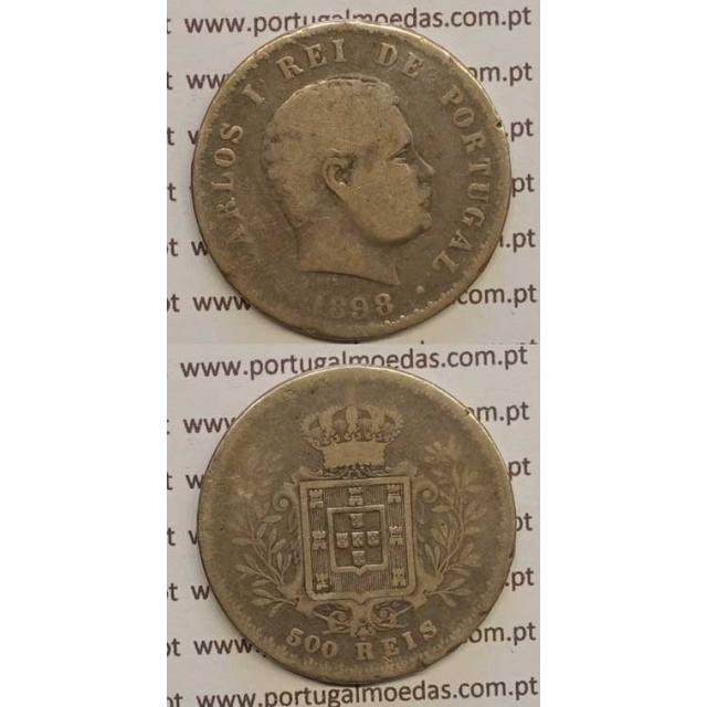 500 REIS PRATA 1898 (BC) D. CARLOS I