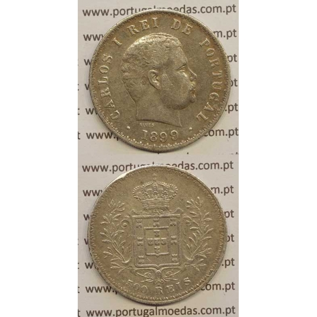 500 REIS PRATA 1899 (MBC) D. CARLOS I