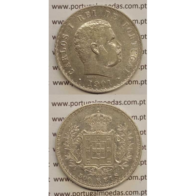 500 REIS PRATA 1901 (MBC+) D. CARLOS I