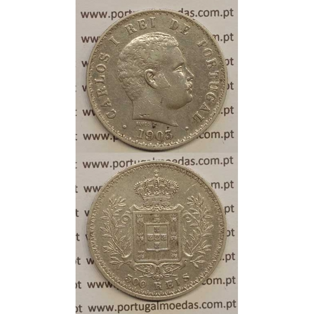 500 REIS PRATA 1903 (MBC) D. CARLOS I