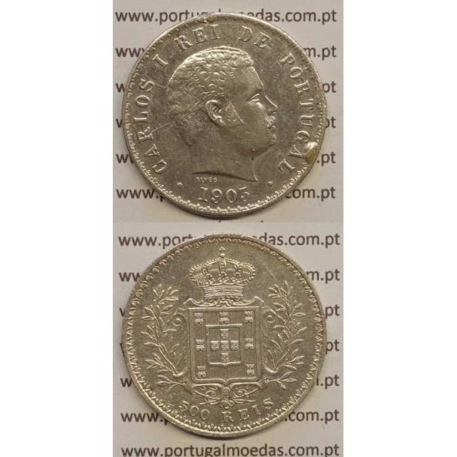 500 REIS PRATA 1903 (BC) D. CARLOS I
