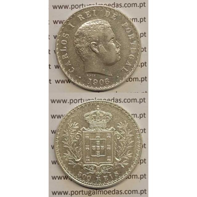 500 REIS PRATA 1906 (MBC+) D. CARLOS I