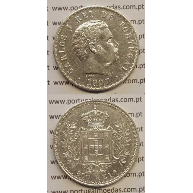 500 REIS PRATA 1907 (MBC+) D. CARLOS I