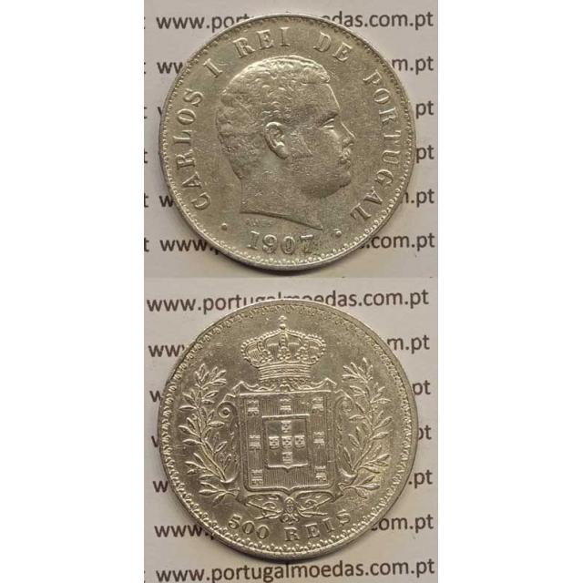 500 REIS PRATA 1907 (MBC) D. CARLOS I