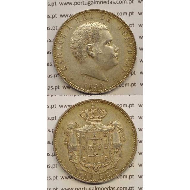 1000 REIS PRATA 1899 (MBC+/BELA-) D. CARLOS I