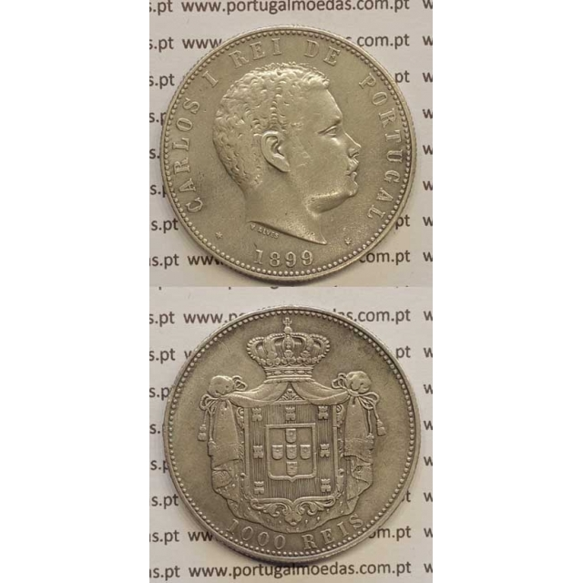 1000 REIS PRATA 1899 (MBC+) D. CARLOS I