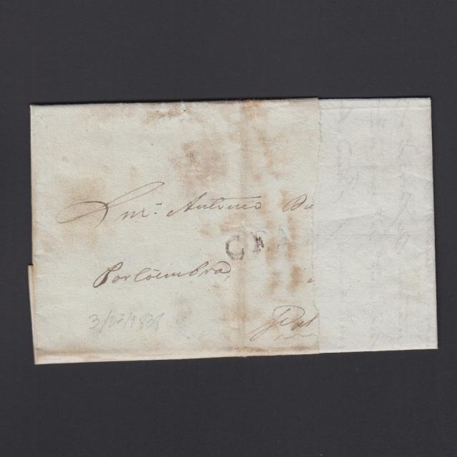 Carta Pré-Filatélica circulada de CEA (Seia) para Lisboa datada de 03-07-1838