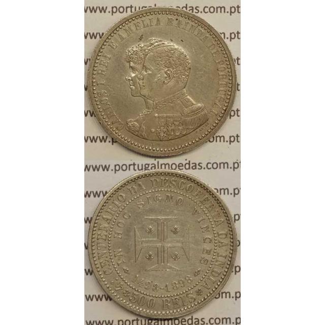 "500 REIS PRATA 1898 ""4º CENT. DESC. INDIA"" (MBC+) D. CARLOS I"