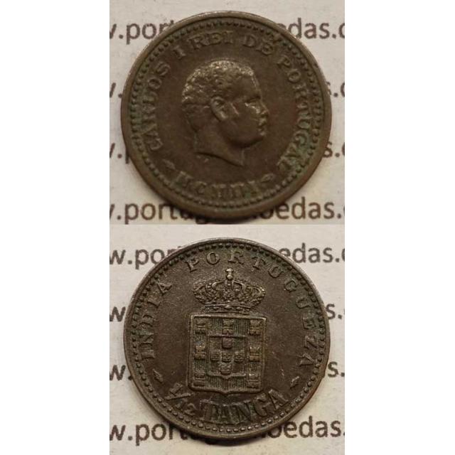 "1/12 TANGA COBRE MCMI -1903 ""ÍNDIA"" (MBC+) D. CARLOS I"