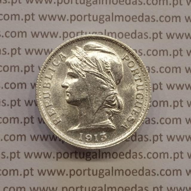 MOEDA DE VINTE CENTAVOS (20 CENTAVOS) PRATA 1913 BELA+