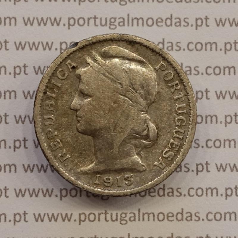MOEDA DE VINTE CENTAVOS (20 CENTAVOS) PRATA 1913 BC