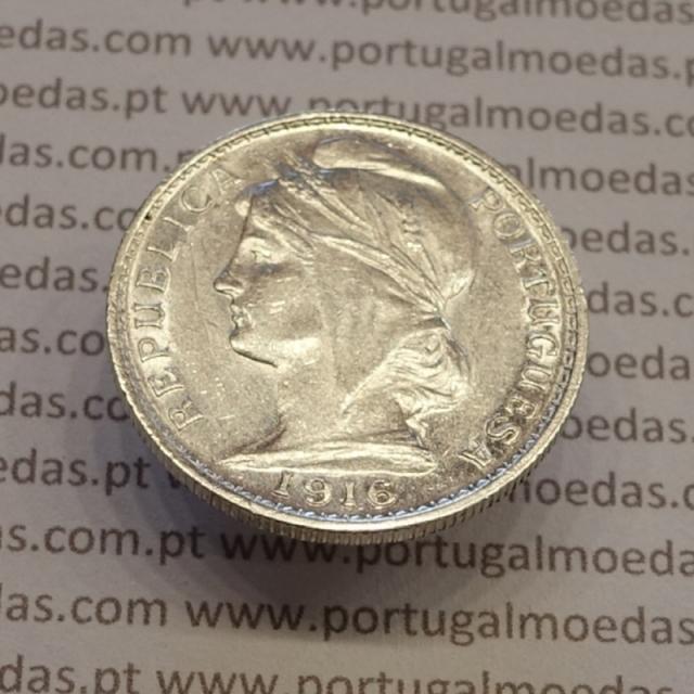 MOEDA DE VINTE CENTAVOS (20 CENTAVOS) PRATA 1916 MBC+/BELA