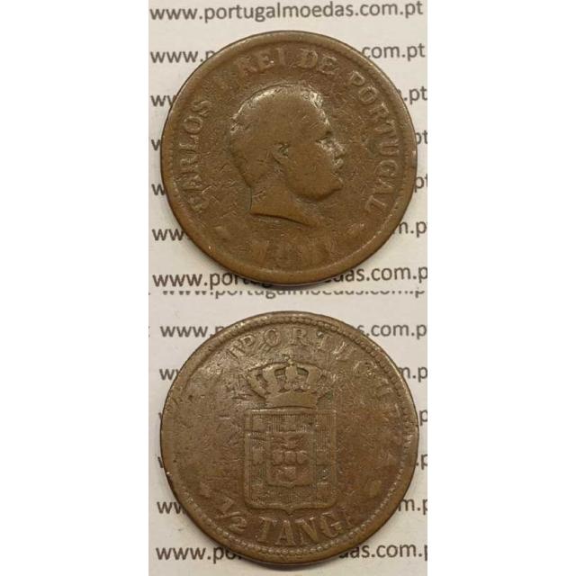 "1/2 TANGA COBRE MCMI - 1901 ""INDIA"" (BC-) D. CARLOS I"
