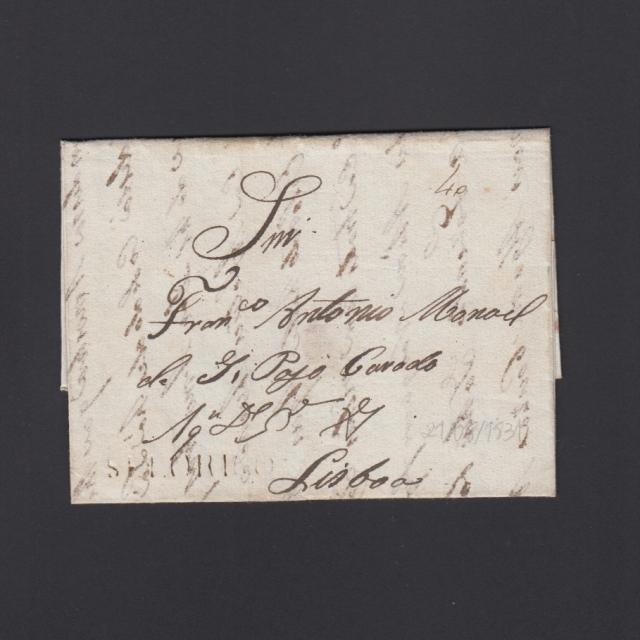 """Carta Pré-Filatélica circulada de Celorico """"SELORICO"""" para Lisboa datada de 21-08-1831"""