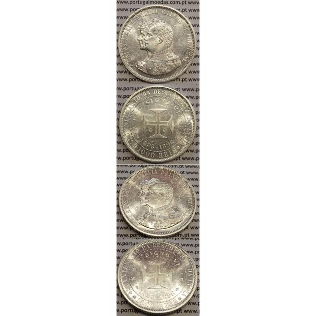 "1000 REIS PRATA 1898 ""4º CENT. DESC. INDIA"" (SOBERBA) D. CARLOS I"