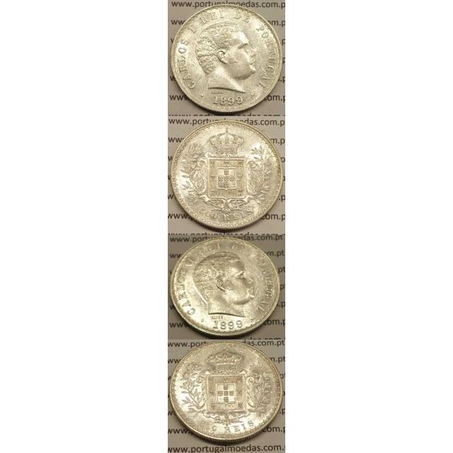 500 REIS PRATA 1899 (BELA/SOB) D. CARLOS I