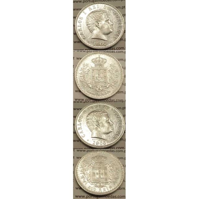 500 REIS PRATA 1906 (MBC+/BELA) D. CARLOS I