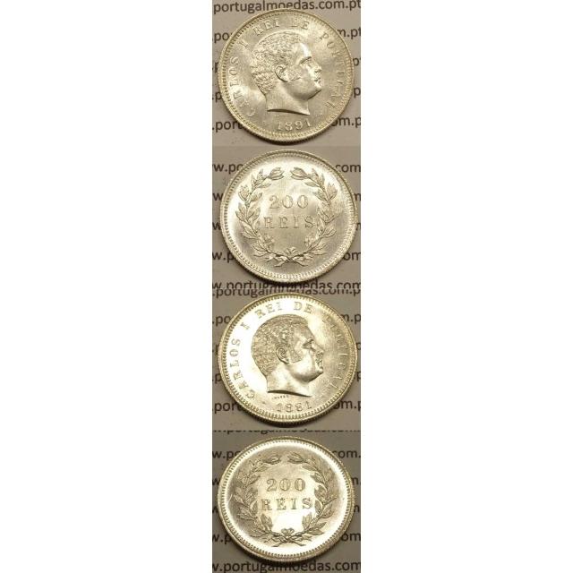 200 REIS PRATA 1891 (SOBERBA+) - D. CARLOS I