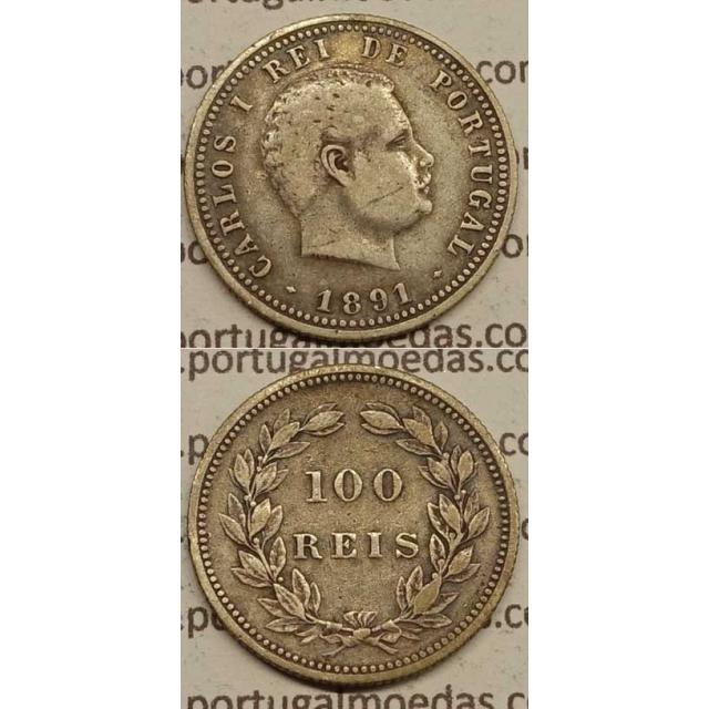 100 REIS PRATA 1891 (MBC) D. CARLOS I