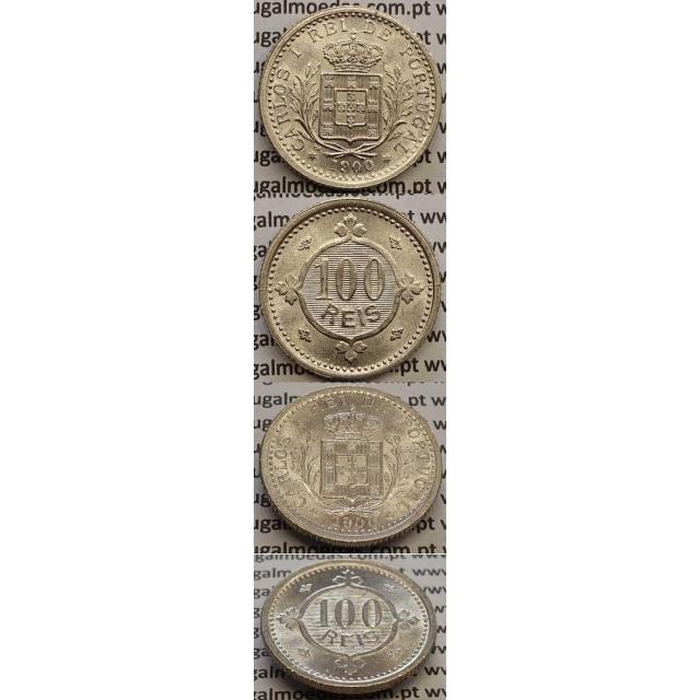 MOEDA 100 REIS CUPRO NÍQUEL 1900 (SOBERBA) - D. CARLOS I