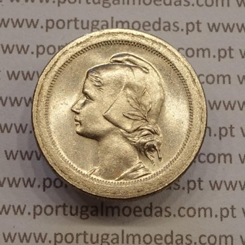 """MOEDA DE VINTE CENTAVOS (20 CENTAVOS) CUPRO NÍQUEL 1921 """"P"""" ABERTO SOBERBA"""