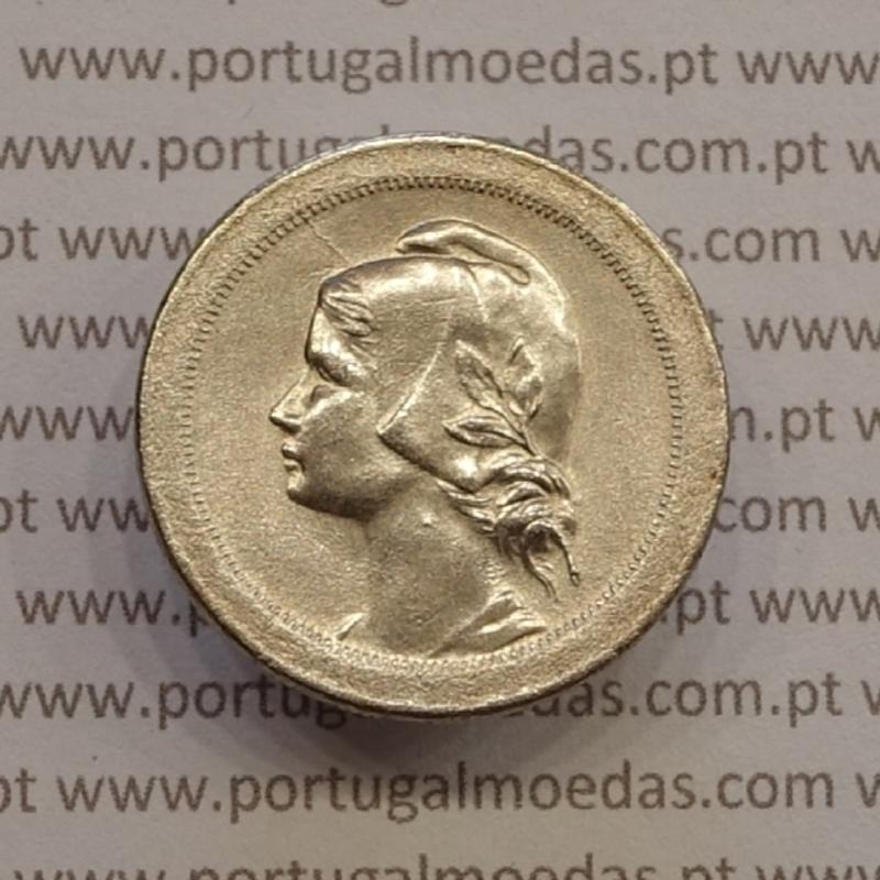 """MOEDA DE VINTE CENTAVOS (20 CENTAVOS) CUPRO NÍQUEL 1921 """"P"""" ABERTO BELA"""