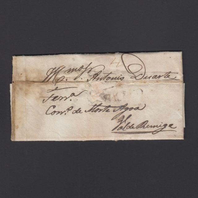 """Carta Pré-Filatélica circulada de Celorico """"SELORICO"""" para Vale de Remígio datada de 16-04-1848"""