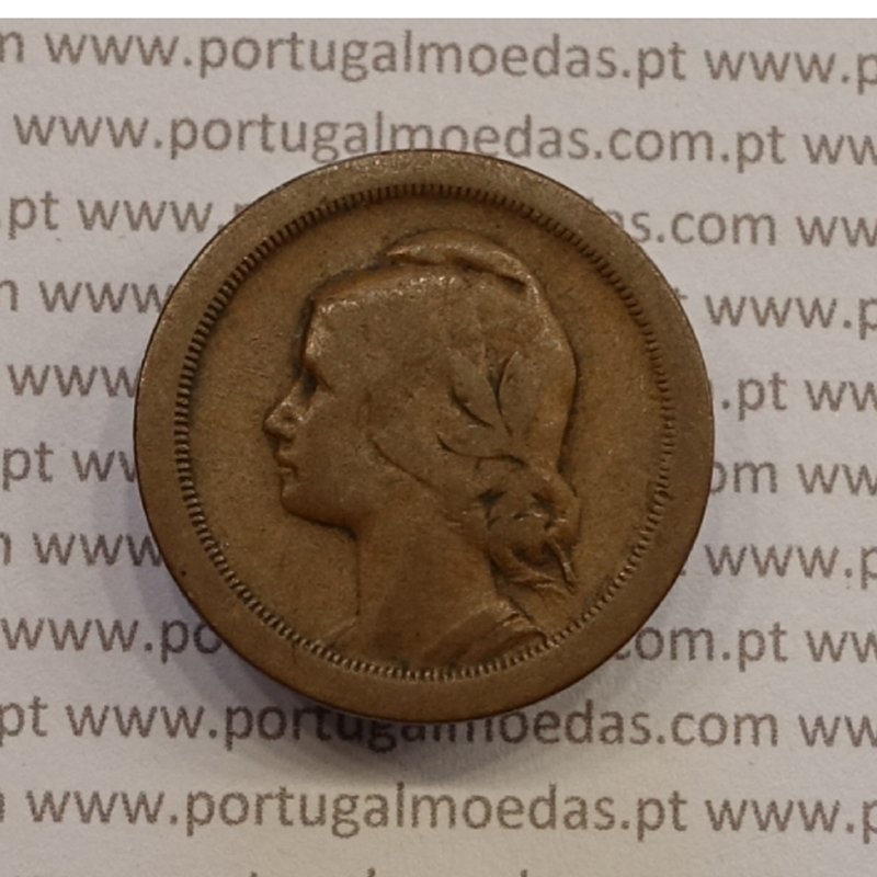 MOEDA DE VINTE CENTAVOS (20 CENTAVOS) BRONZE 1925 BC+