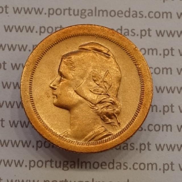 MOEDA DE VINTE CENTAVOS (20 CENTAVOS) BRONZE 1924 BELA-