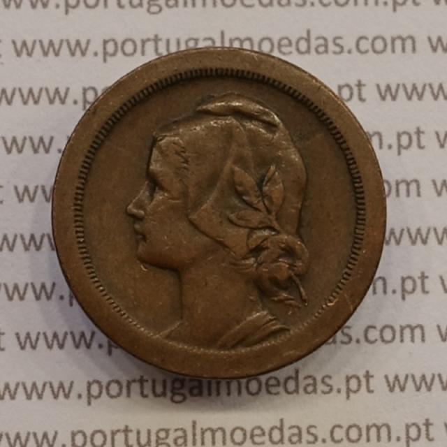 MOEDA DE VINTE CENTAVOS (20 CENTAVOS) BRONZE 1924 MBC