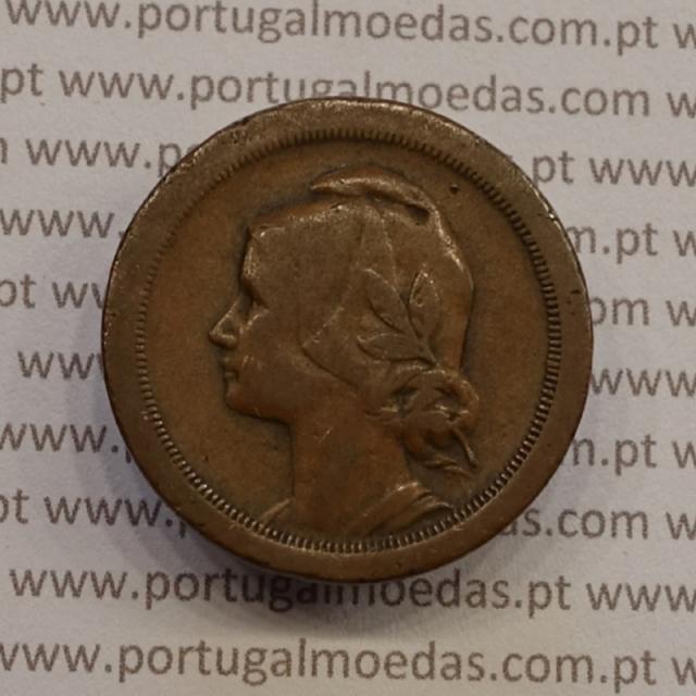 MOEDA DE VINTE CENTAVOS (20 CENTAVOS) BRONZE 1924 BC+