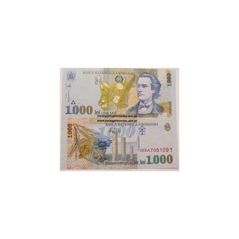 ROMÉNIA- NOTA DE 1000 LEI 1998 ( NÃO CIRCULADA )