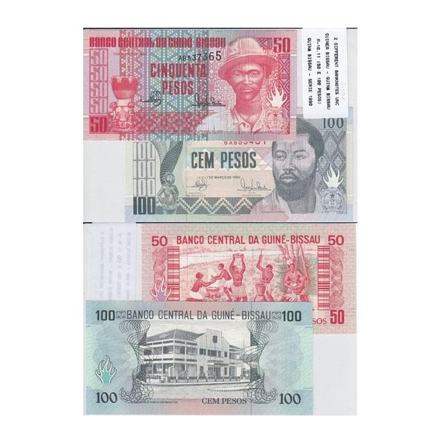 GUINÉ BISSAU - LOTE DE 2 NOTAS DIFERENTES-SERIE 1990 ( NÃO CIRCULADA )
