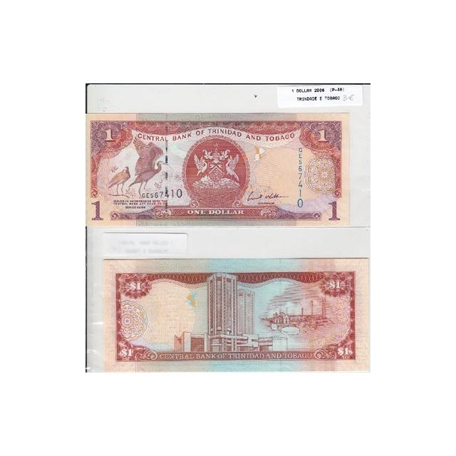 TRINDADE & TOBAGO - NOTA DE 1 DOLLAR 2006 ( NÃO CIRCULADA )