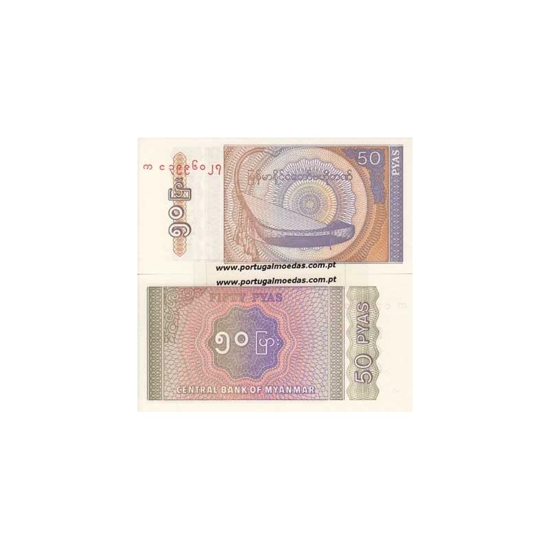BURMA/MYANMAR - NOTA DE 50 PYAS 1994 ( NÃO CIRCULADA )