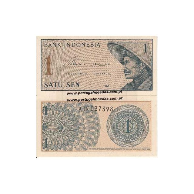 INDONÉSIA- NOTA DE 1 SEN 1964 (NÃO CIRCULADA)