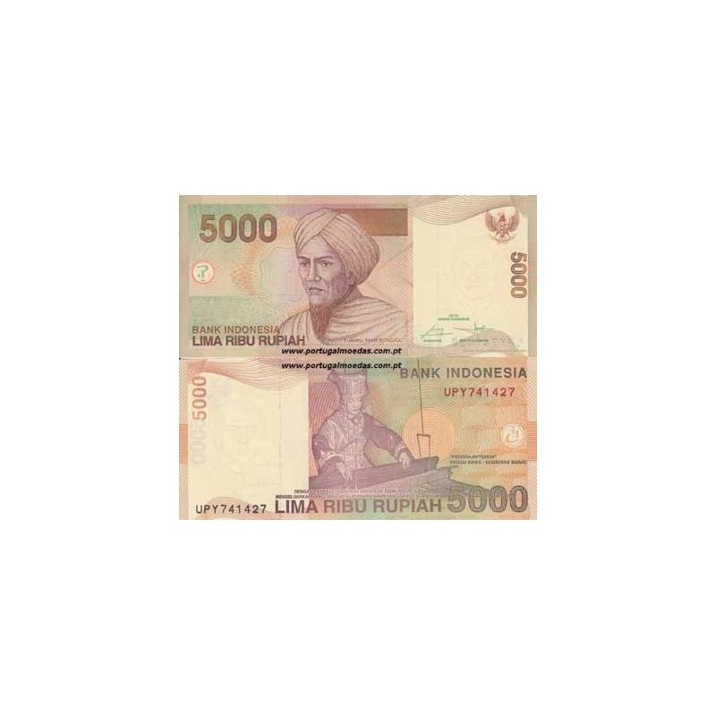 INDONÉSIA- NOTA DE 5000 RUPIAH 2014 (NÃO CIRCULADA)