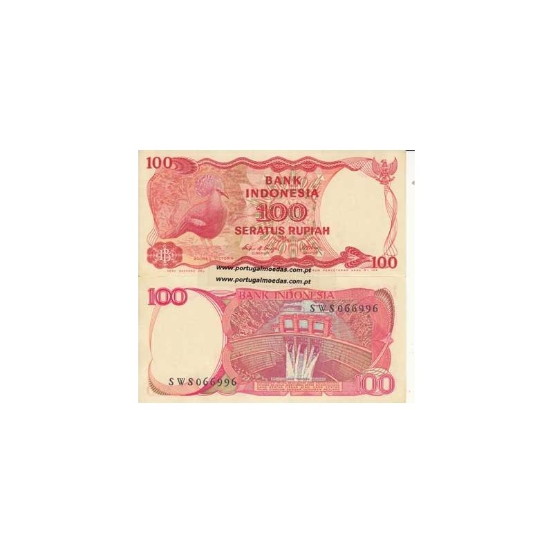 INDONÉSIA- NOTA DE 100 RUPIAH 1984 (NÃO CIRCULADA)