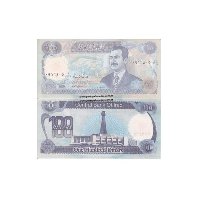 IRAQUE- NOTA DE 100 DINARS 1994 (NÃO CIRCULADA)