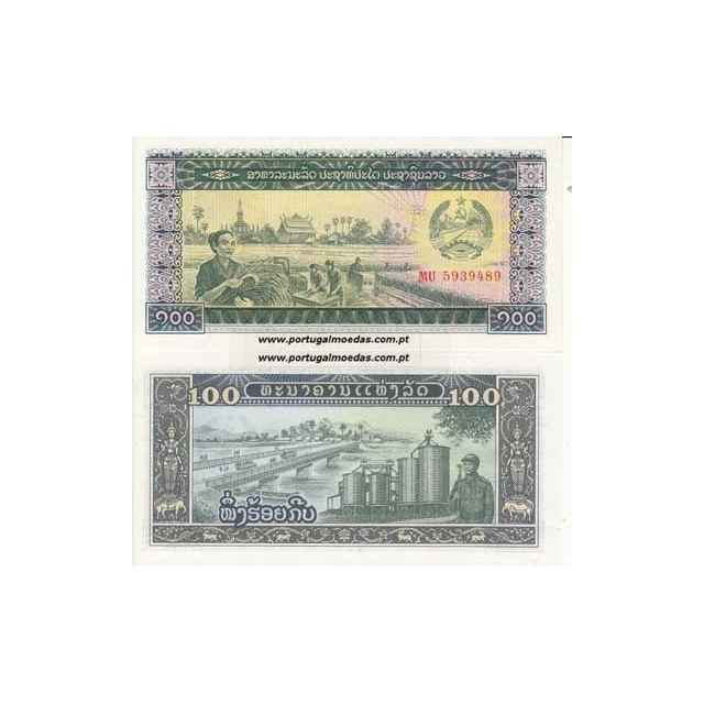 LAOS - NOTA DE 100 KIP 1979 ( NÃO CIRCULADA )