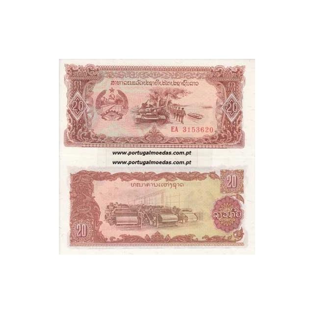 LAOS - NOTA DE 20 KIP 1979 ( NÃO CIRCULADA )
