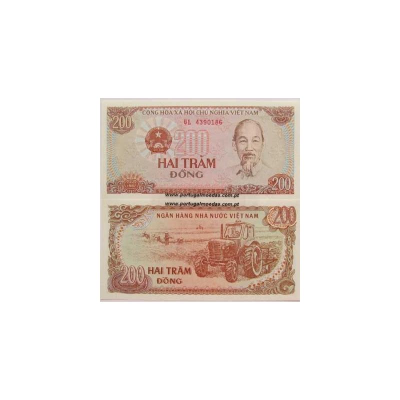 VIETNAME - NOTA DE 200 DONG 1987 ( NÃO CIRCULADA )