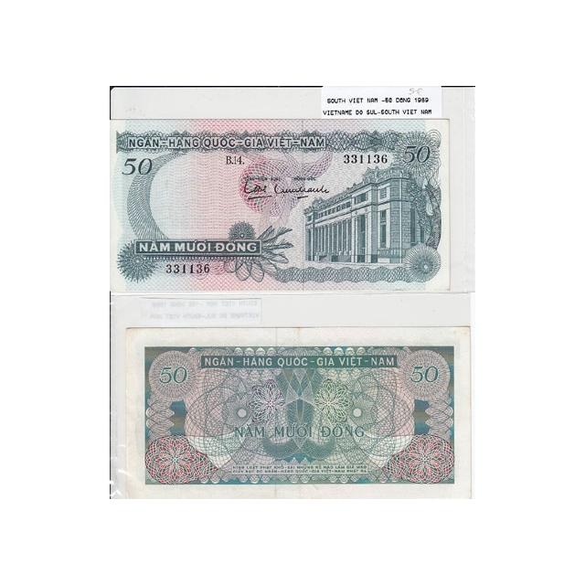 VIETNAME DO SUL - NOTA 50 DONG 1969 (NÃO CIRCULADA)