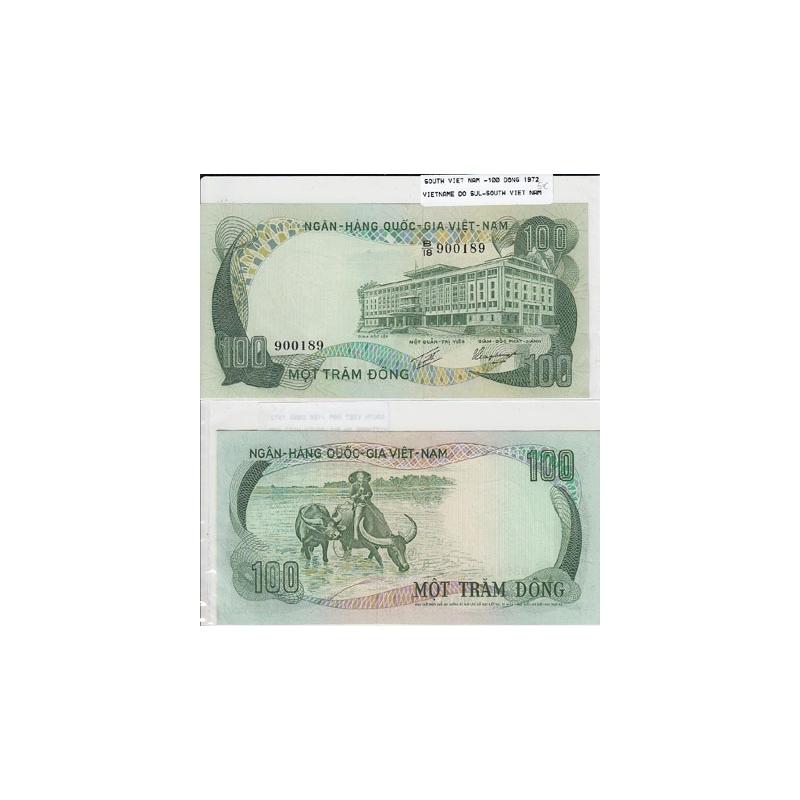 VIETNAME DO SUL - NOTA 100 DONG 1972 (NÃO CIRCULADA)