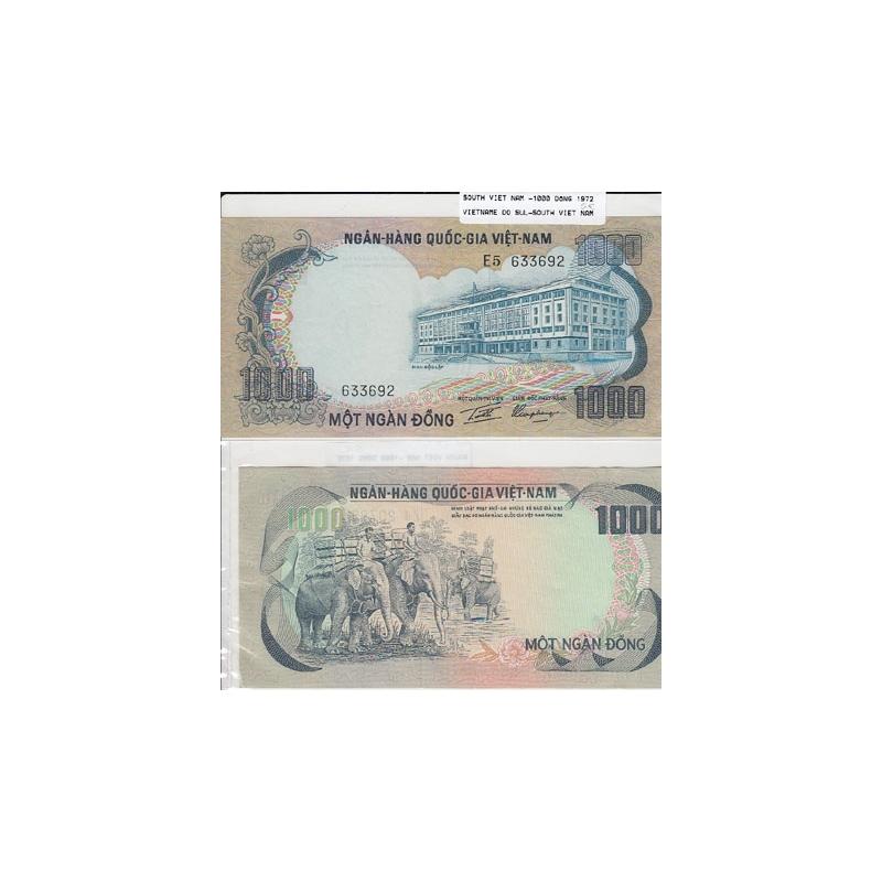 VIETNAME DO SUL - NOTA 1000 DONG 1972 (NÃO CIRCULADA)