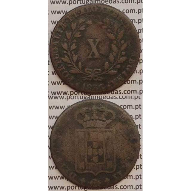 MOEDA X REIS COBRE 1836 (BC-) MÓDULO MENOR 33mm - D.MARIA II